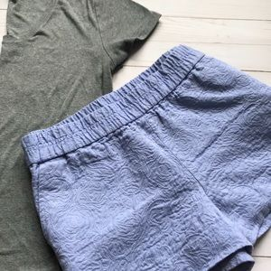 Lilac J. Crew Textured Shorts Size 10